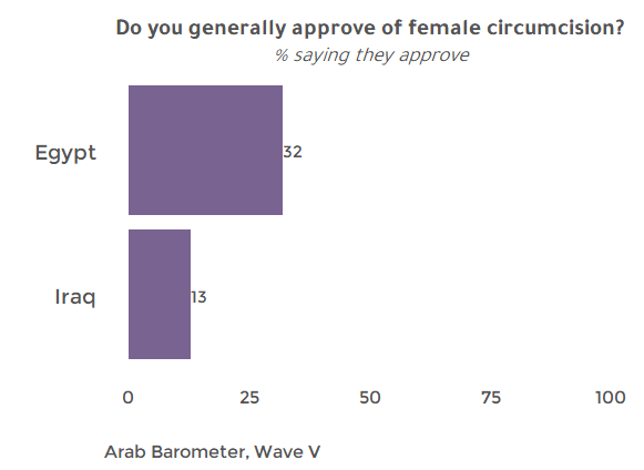 Fact Sheet: DO CITIZENS OF EGYPT AND IRAQ APPROVE OF FEMALE CIRCUMCISION ?