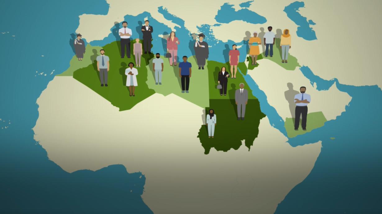 فيديو غرافيك إستطلاع بي بي سي عربي الكبير: آراء حول الدين والتوجه الجنسي والهجرة في الشرق الأوسط وشمال أفريقيا