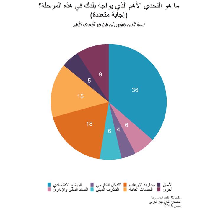 مصر: أبرز نتائج إستطلاع الرأي العام- 2018-2019